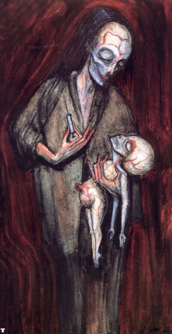 H.R. Giger: Mother with Child